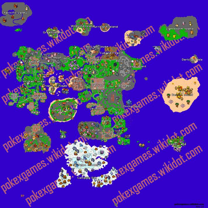 Map - Pokexgames